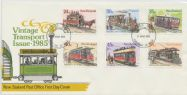 06/03/1985 NZ FDC Vintage Trams set of 6 (NFD/576)